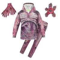 Kids Demogorgon Cosplay Costume Stranger Things 3 Cosplay Hoodie Outfit Set