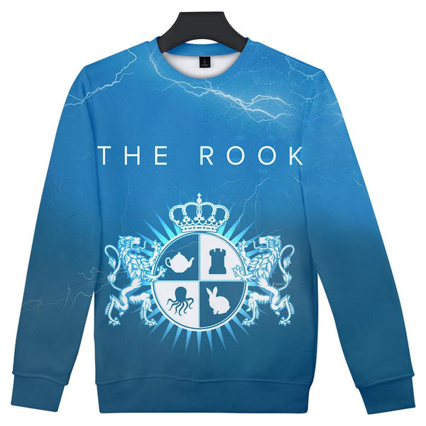 Unisex The Rook Crewneck Sweatshirts Front Side Print Graphics Long Sleeves Hip Hop Top
