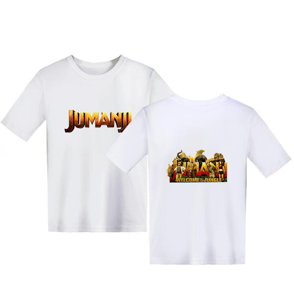 Kids Jumanji: Welcome to the Jungle T Shirt Cosplay Short Sleeve Tshirt Graphic Tee Tops