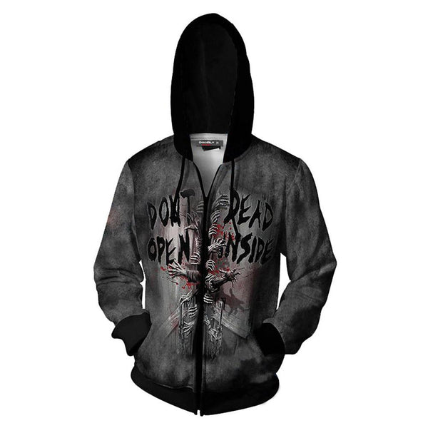 Unisex Halloween Hoodies The Walking Dead Zip Up 3D Print Jacket Sweatshirt