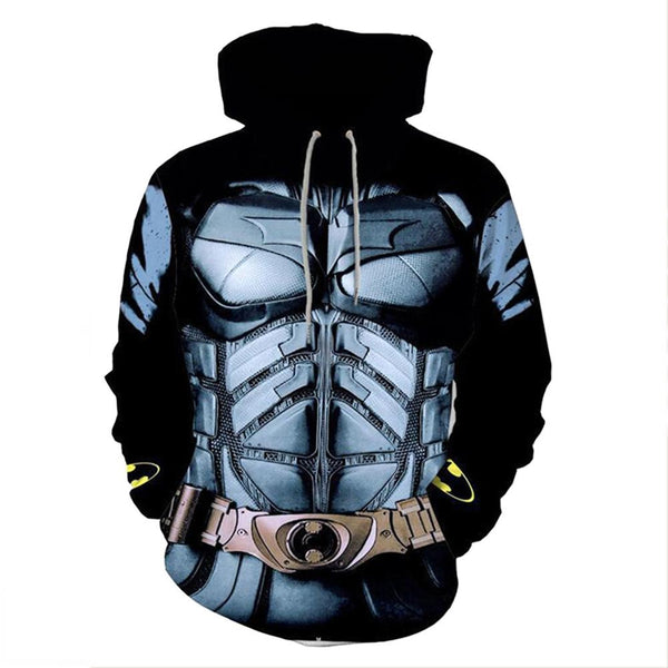 Unisex Batman Hoodies Zip Up 3D Print Cosplay Jacket Sweatshirt