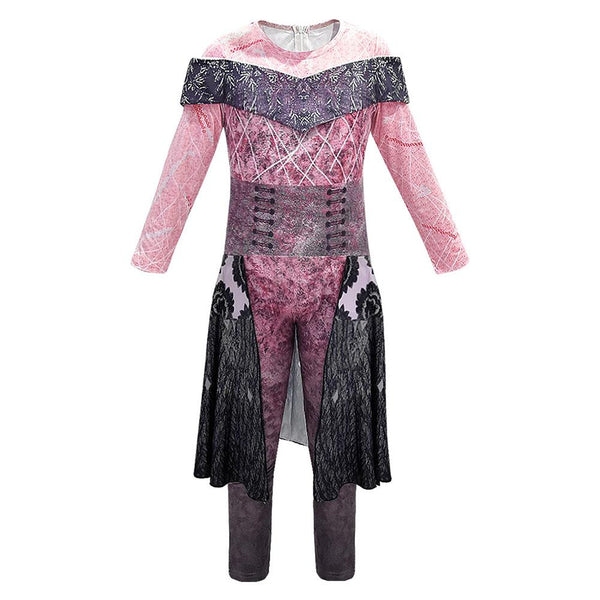 Kids Halloween Costume Descendants 3 Evil Audrey Cosplay Jumpsuit