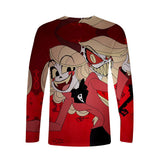 Unisex Hazbin Hotel Tshirts Long Sleeve T-shirt Casual T-shirt Tops