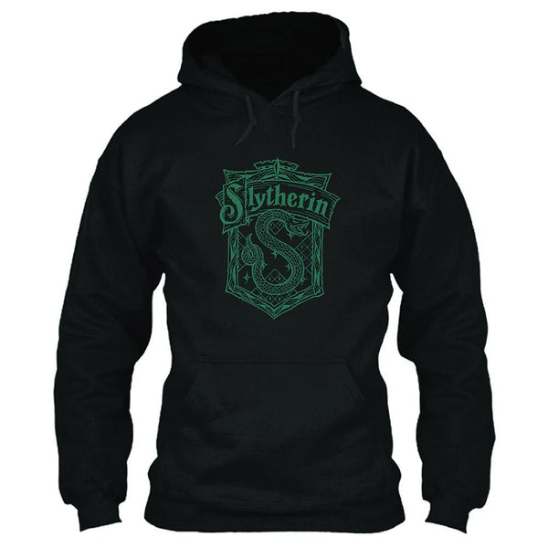 Unisex Harry Potter Hoodies Slytherin Printed Pullover Jacket Casual Sweatshirt