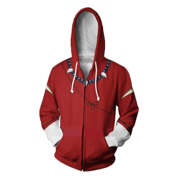 Unisex Hoodies Inuyasha Zip Up 3D Print Jacket Sweatshirt