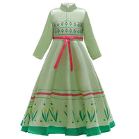 Frozen 2 Princess Anna Dress Costume Girls Kids Cosplay Dress Children Christmas Festival Princess Dress
