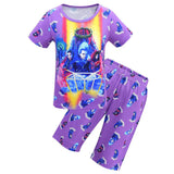 Kids Descendants 3 Short Sleeve Shirt Pajamas Set