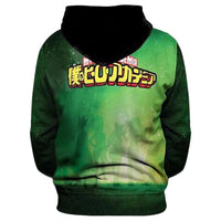 Unisex My Hero Academia All Might Hoodies Cosplay Izuku Midoriya 3D Printed Pullover Hoodies Sweatshirt