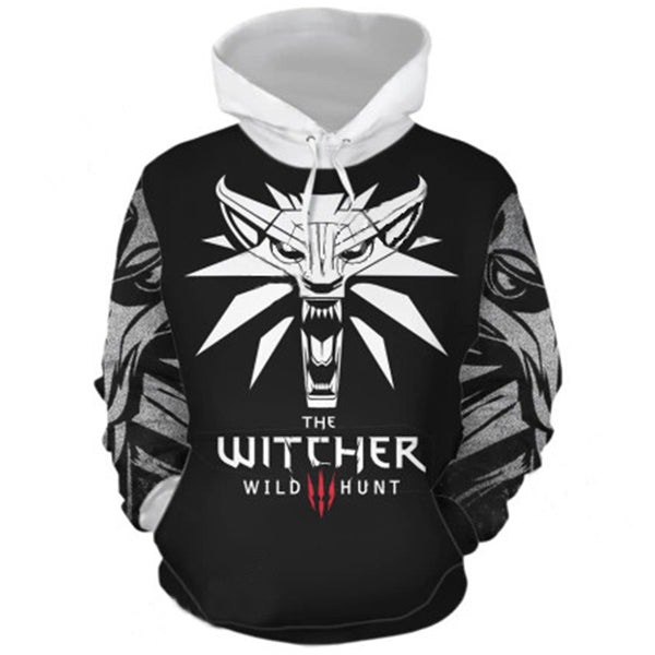 Unisex Hoodies The Witcher 3: Wild Hunt Sweatshirt HOT Game Hoodie Casual Pullover Cosplay Clothing