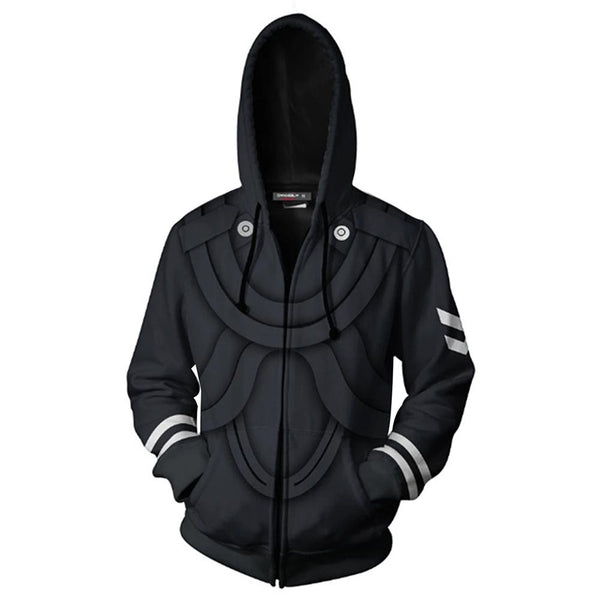 Unisex Tokyo Ghoul Hoodie Jacket Cosplay Costume 3D Print Zip Up Coat Casual Tops