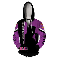 Anime JoJo's Bizarre Adventure 3D Print Hoodie Unisex Zip Up Sweatshirt Casual Streetwear Hooded Tops