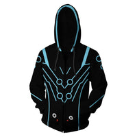 Unisex Shimada Genji Skin Hoodies Game Overwatch Zip Up 3D Print Jacket Sweatshirt Black