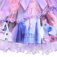 Girls Princess Dress Festival Clothes Frozen Elsa Anna Dresses Birthday Costume Party New Years Dress
