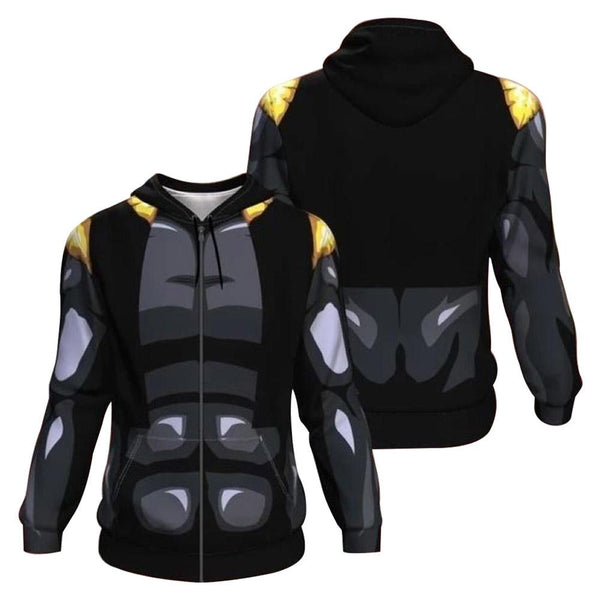 Unisex Gogeta Hoodies Dragon Ball Zip Up 3D Print Jacket Sweatshirt
