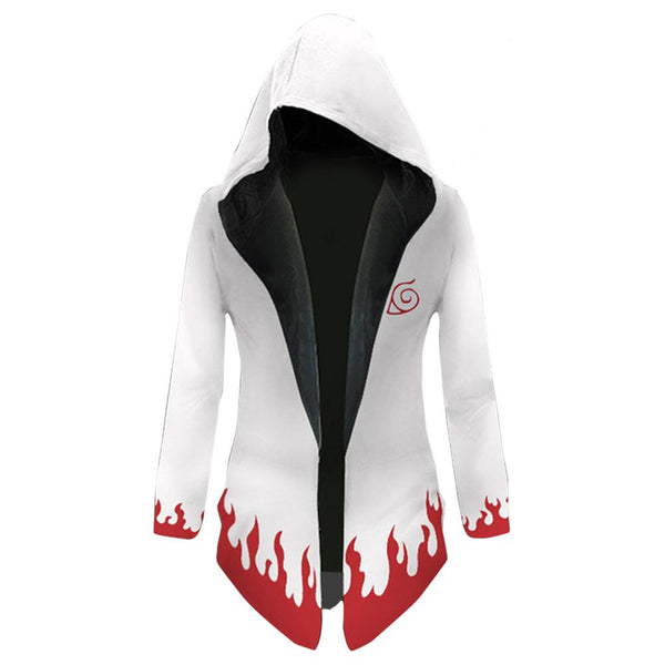 Anime Naruto Akatsuki Cosplay Costume Windbreaker Jacket Hooded Thicken Sweatshirt Trench Coat