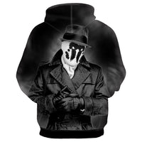 Unisex Watchmen Hoodies Rorschach Printed Jacket Sweatshirt