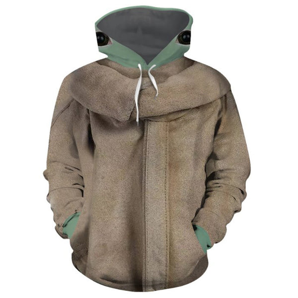 Unisex Star Wars The Mandalorian Hoodie Baby Yoda Cosplay Hooded Pullover Sweatshirt Cosplay Costume