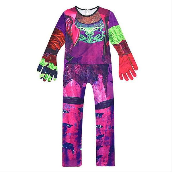 Kids Girls Descendants 3 Evie Cosplay Jumpsuit Halloween Carnival Costume Dress Up