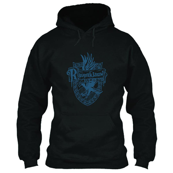 Unisex Harry Potter Hoodies Ravenclaw Printed Pullover Jacket Casual Sweatshirt