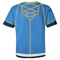 Unisex Fire Emblem: Three Houses T-Shirts Blue Lion Cosplay Costume 3D Print Casual Shirt