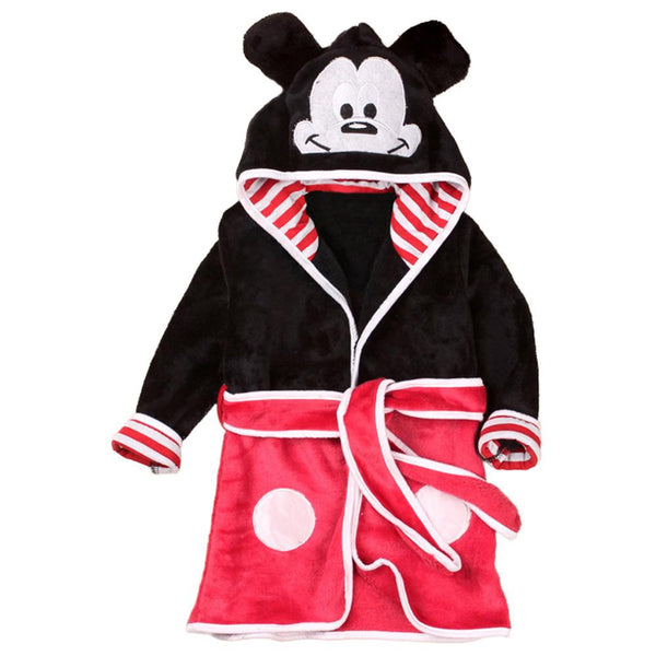 Little Boys Bathrobe with Hood Pajamas Robe Mickey Coats Clothes