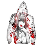 Unisex DARLING in the FRANXX Hoodies Zero Two Printed Pullover Jacket Sweatshirt