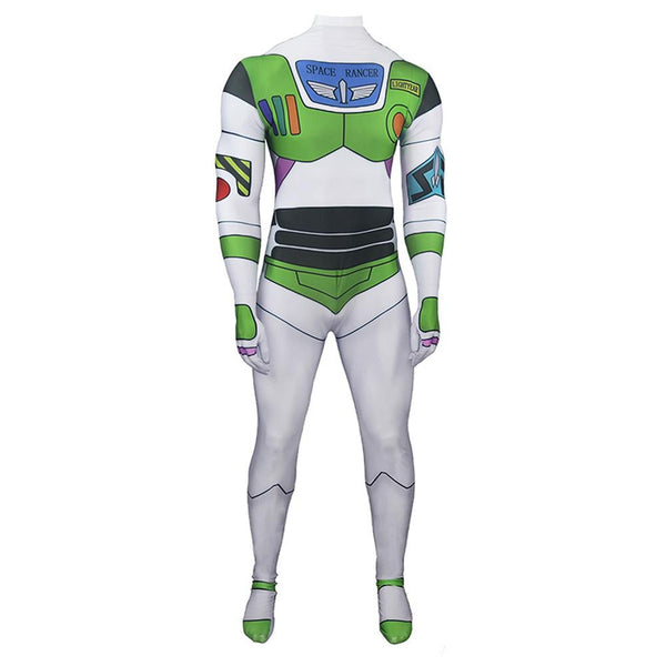Adult Toy Story Buzz Lightyear Cosplay Zentai Jumpsuit One Piece Halloween Carnival Costumes Bodysuit