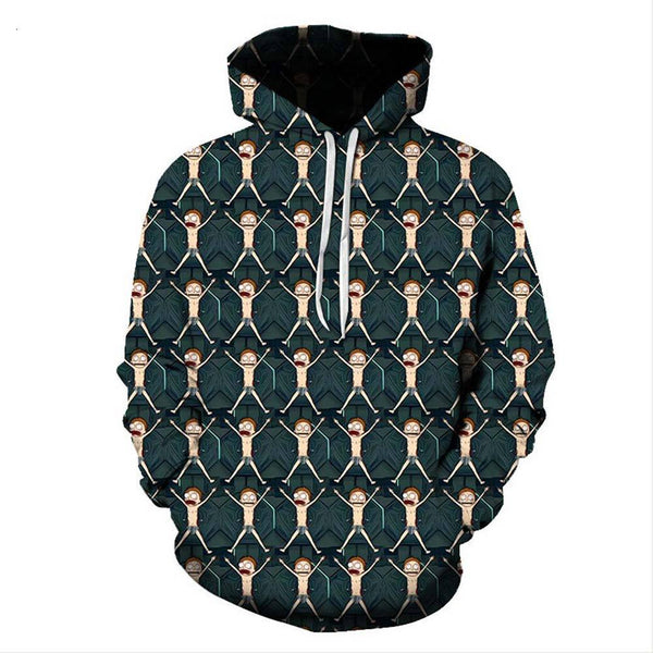 Unisex Rick and Morty Hoodies Morty Smith Printed Pullover Jacket Sweatshirt