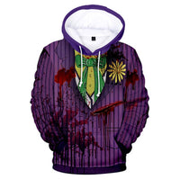 Unisex Joker Hoodie Cosplay Pullover Hooded Sweatshirt Cosplay Costume