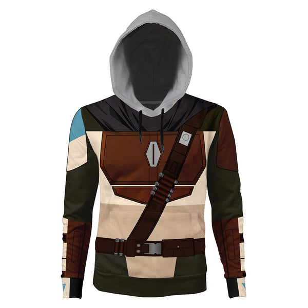Unisex Star Wars The Mandalorian Hoodie Cosplay Hooded Pullover Sweatshirt Cosplay Costume