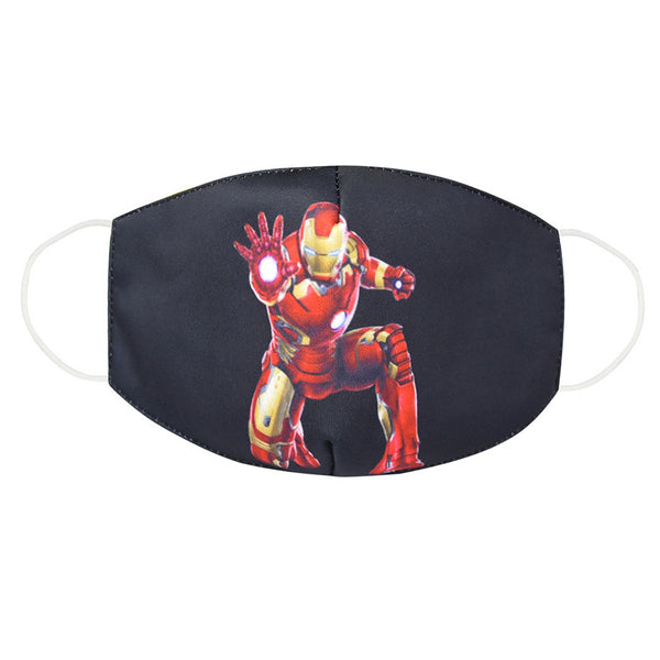 Adult Kids Iron Man Dustproof Face Mask Washable Reusable Mouth Masks