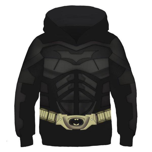 Kids Batman Hoodies 3D Muscles Printed Pullover Jacket Sweatshirt