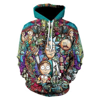 Unisex Hoodies Rick and Morty Printed Pullover 3D Print Jacket Sweatshirt