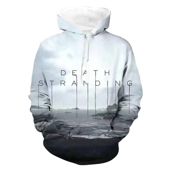 Unisex Death Stranding Hoodies Game Cosplay Tops Sweatshirts 3D Printed Pullover Hoodie