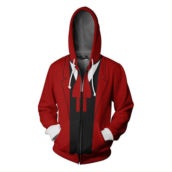 Unisex Alucard Hoodies Hellsing Zip Up 3D Print Jacket Sweatshirt