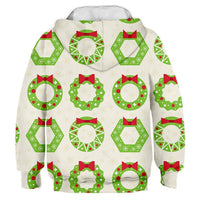 Christmas 3D Print Wreath Children's Sweatshirt Polyester Kids Hoodies Long Sleeve Baby Boy Clothes