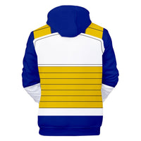 Unisex Dragon Ball Hoodie Vegeta Cosplay Hooded Pullover Sweatshirt Cosplay Costume