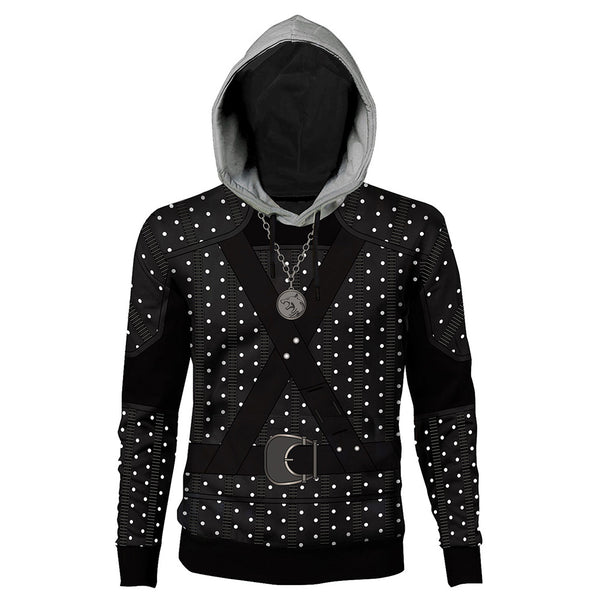 Unisex Geralt Cosplay Hoodies The Witcher Pullover 3D Print Jacket Sweatshirt