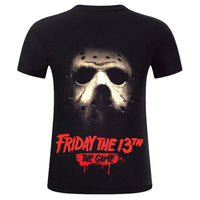Unisex Horror Movie T-shirt Friday the 13th Jason Printed Short Sleeve Shirt