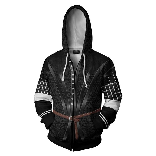 Unisex Yennefer Hoodies The Witcher 3: Wild Hunt Zip Up 3D Print Jacket Sweatshirt