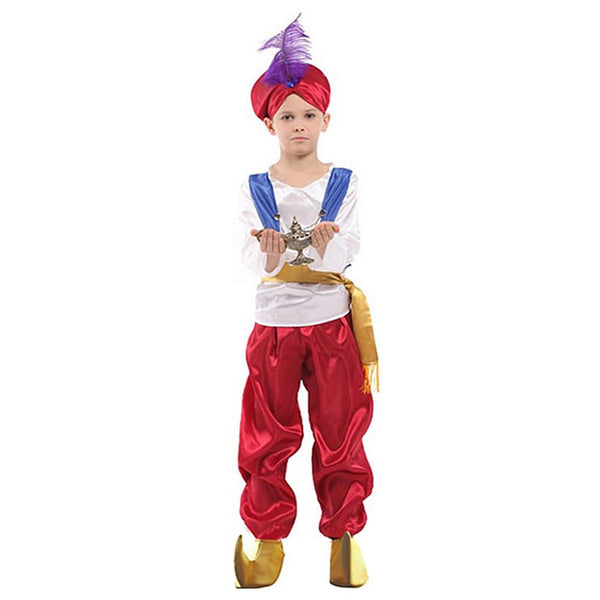 Kids' Halloween Aladdin Suit Hat Boy's Arabian Prince Costume