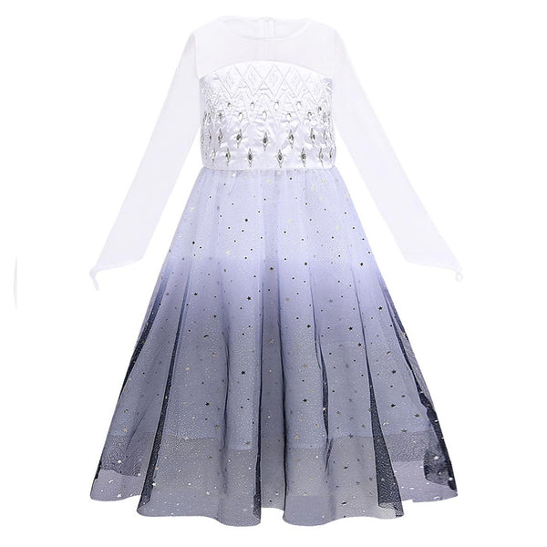 Kids Frozen 2 Elsa Cosplay Dress Party Princess Dress for Girls Clothes