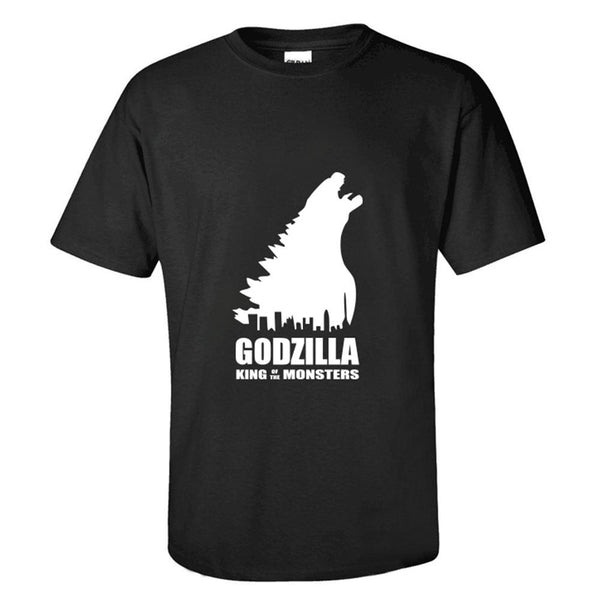 Unisex Movie Merchandise T-shirt Godzilla 2 Monster Printed Short Sleeve Shirt