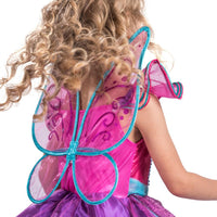 Girls Fairy Tutu Outfit Butterfly Wings Princes Costume Dress for Birthday Parties Halloween