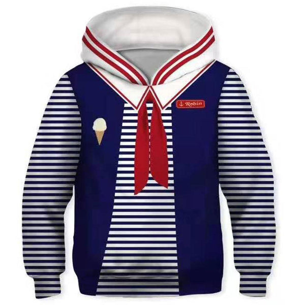 Kids Scoops Ahoy Robin Hoodies Stranger Things Pullover 3D Print Jacket Sweatshirt