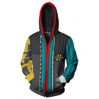 Unisex Rhys Hoodies Borderlands Zip Up 3D Print Jacket Sweatshirt