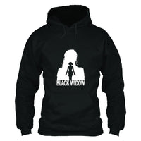 Unisex Black Widow Hoodie Natasha Romanoff Printed Hooded Pullover Sweatshirt