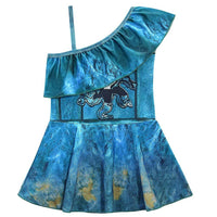 Kids Girls Swimsuit Descendants 3 Uma Cosplay Costume Fancy Dress One-shoulder Tops Skirt Swimwear