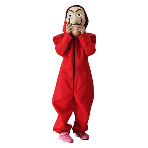 Kid Size Salvador Dali Money Heist The Paper House La Casa De Papel Costume