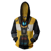 Unisex Claptrap Hoodies NoMan'sLand Zip Up 3D Print Jacket Sweatshirt